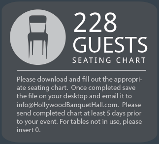 228 Guest Seating chart