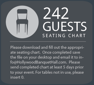 242 Guest Seating chart
