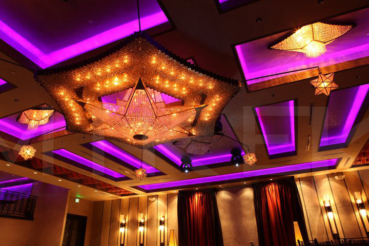Hollywood Banquet Hall Purple Lights
