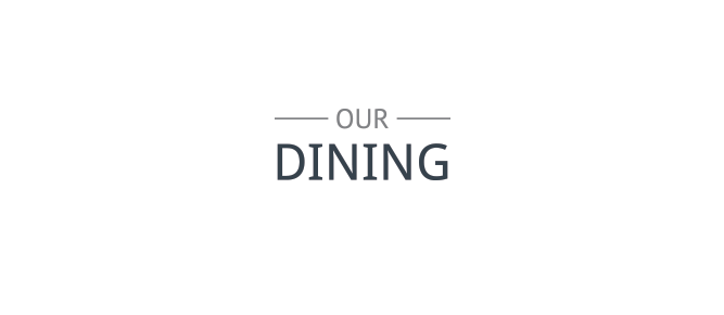 our dining diamond banner