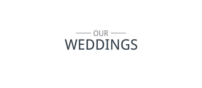our weddings banner