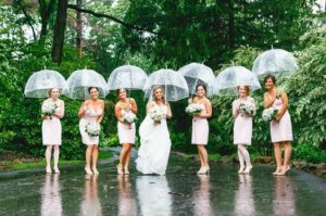 rainy wedding feature