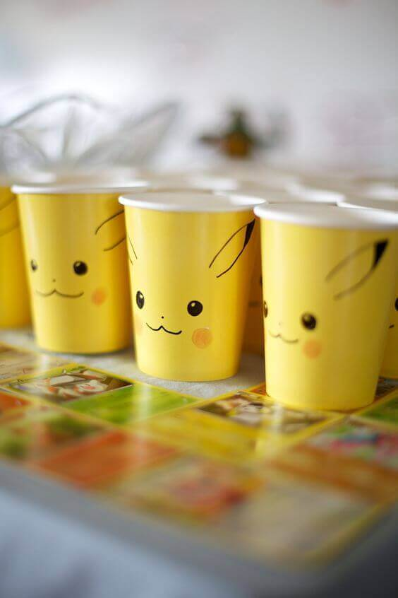 Pikachu Cups For Party Pokemon