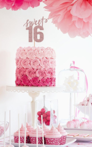 Pink Sweet Sixteen Cake - Pretty In Pink Sweet Sixteen Theme