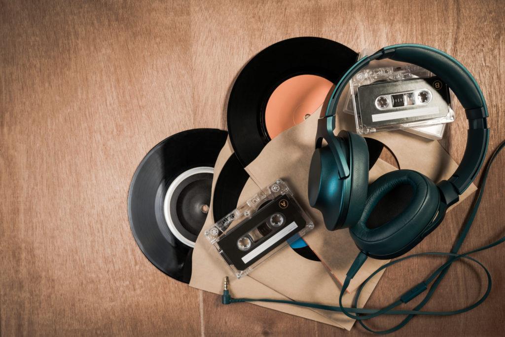 dj mixtape with headphones
