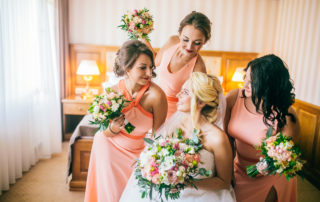 bridesmaids with bride - how to pick your bridesmaids