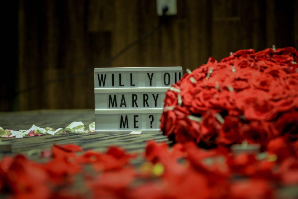 rose petals everywhere - marriage proposal ideas