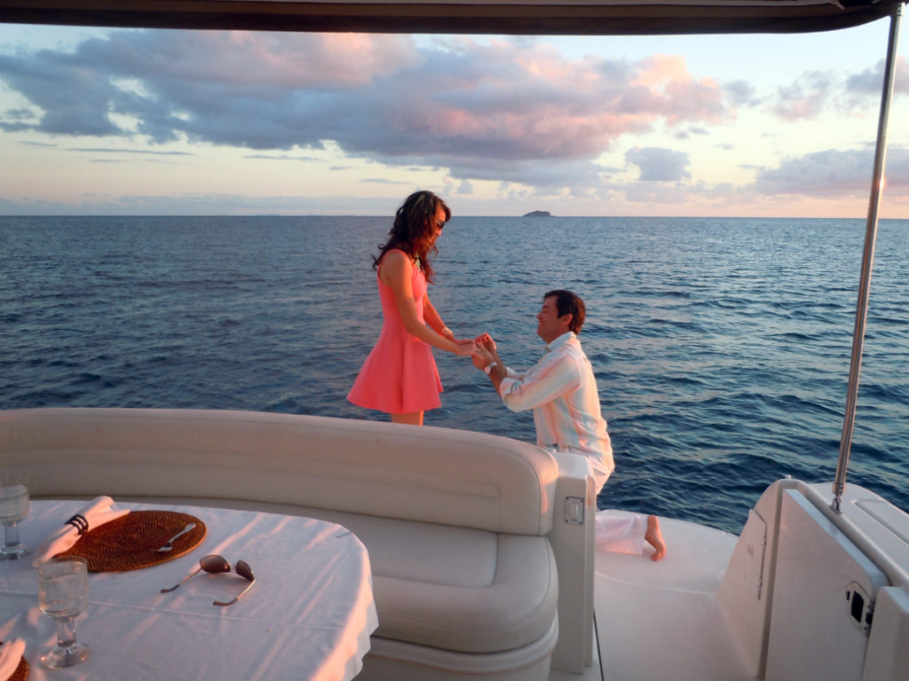 proposal on boat - marriage proposal ideas