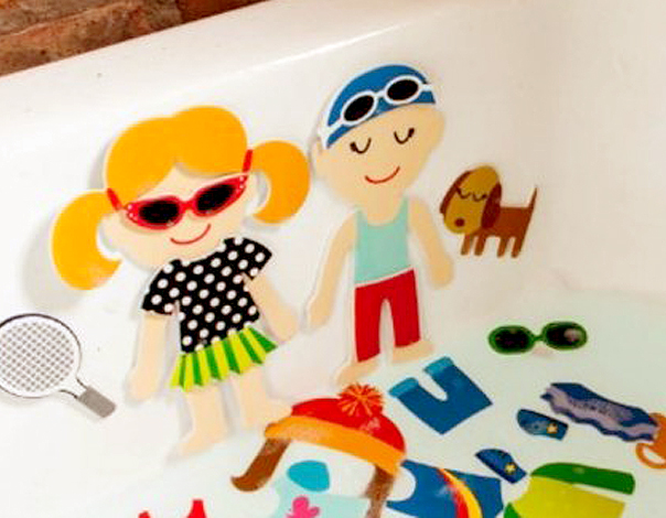 Bathtub Toy Dolls With Stick On Clothing As Birthday Party Favors