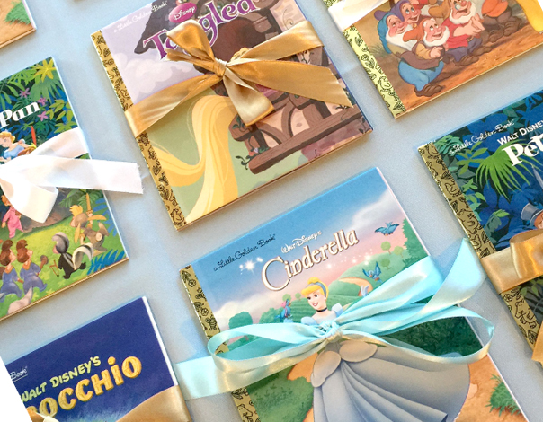 Disney Little Golden Books With Bows As Birthday Party Favors
