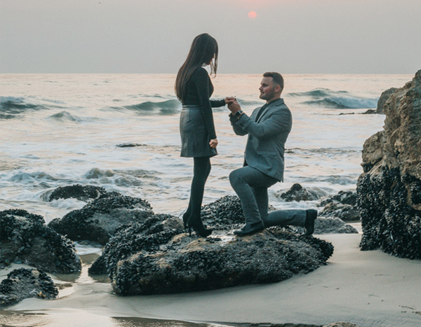 Engagement Party - Proposal Story - Man Proposing To Woman On Beach