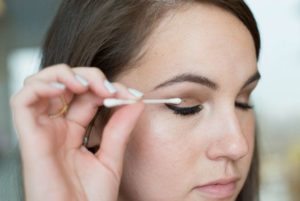 DIY Wedding Makeup - Woman Doing Eye Makeup With Q-Tip