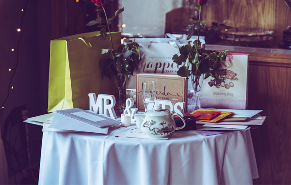 Wedding Gift Etiquette - Small Wedding Gift Table