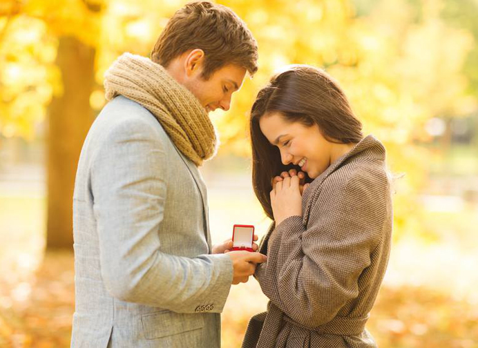 Good Wedding Sites - Show Off Engagement Photos - Couple Getting Engaged