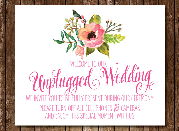 Good Wedding Sites - Unplugged Wedding Information