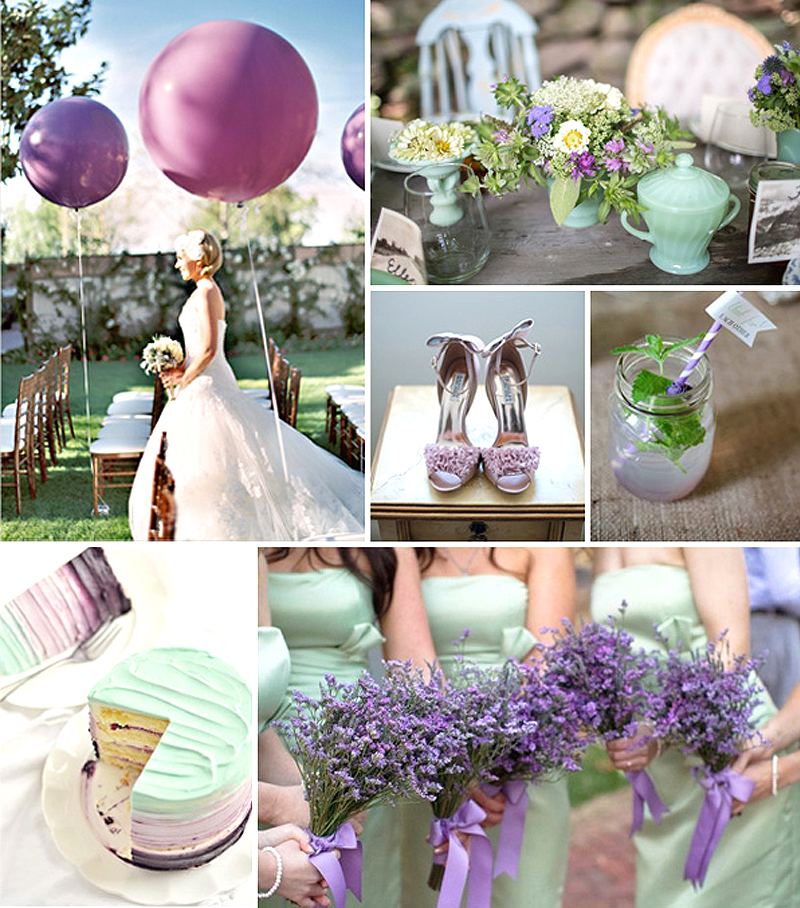 Spring Wedding Color Palette - Lavender Accents