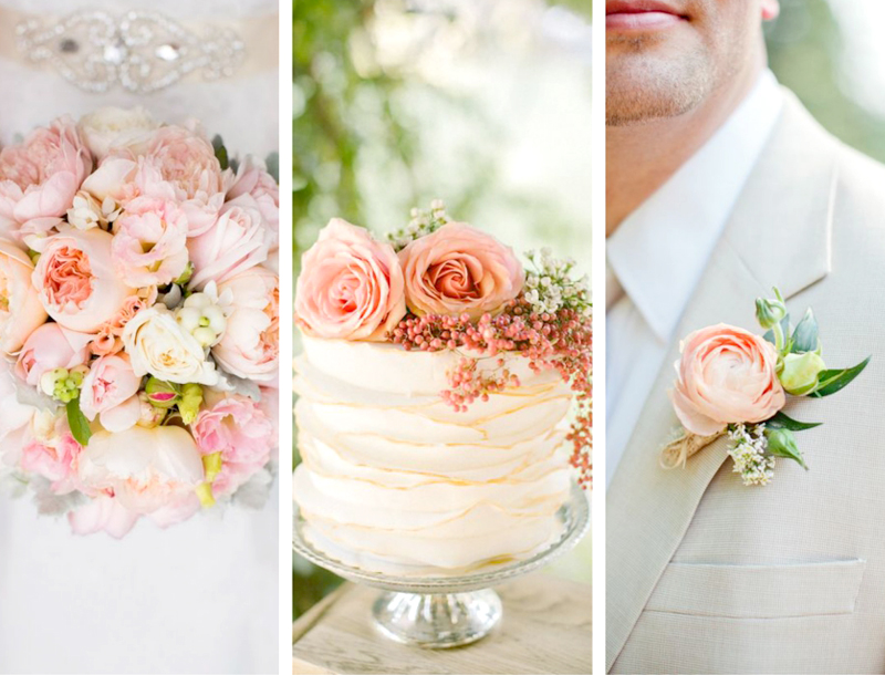 Spring Wedding Color Palette - Peach Accents