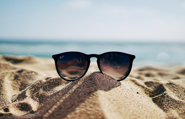 Sunglasses Sitting On Sand