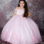 Pink Cincoanera Dress - Ballgown Style With Tiara