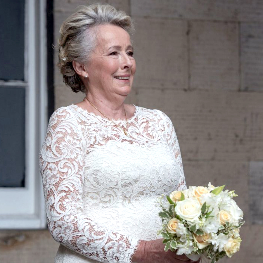 Bridal Style For Older Brides - Old Woman With Bouquet